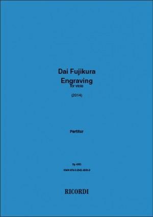 Dai Fujikura: Engraving for viola