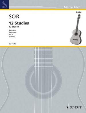 Sor, F: 12 Studies op. 6