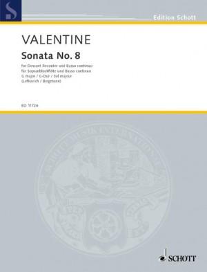 Valentine, R: Sonata No. 8 in G