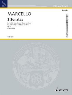 Marcello, B: 3 Sonatas aus op. 2