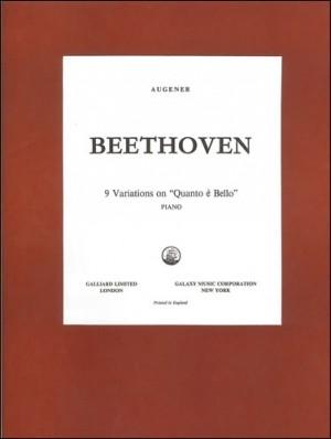 Beethoven: Variations on 'Quant'e più Bello', Nine . WoO69