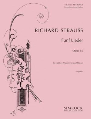 Strauss, R: Five Songs op. 15