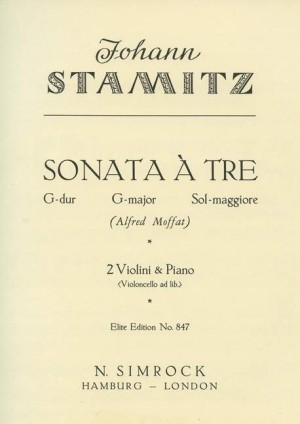 Stamitz, J W A: Trio Sonata in G Major