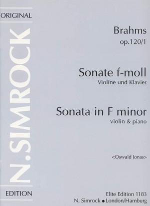 Brahms, J: Sonata in F Minor op. 120/1