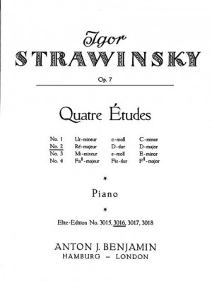 Stravinsky, I: Four Studies op. 7/2