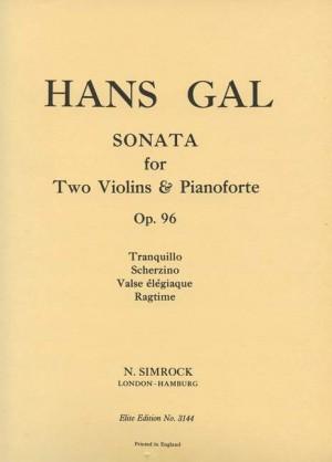 Gál, H: Sonata op. 96
