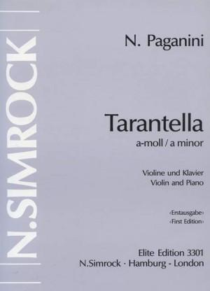 Paganini, N: Tarantella in A Minor