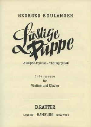 Boulanger, G: The Happy Doll