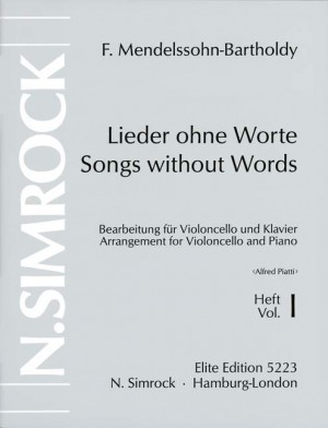 Mendelssohn: Songs without Words op. 19/30 Band 1