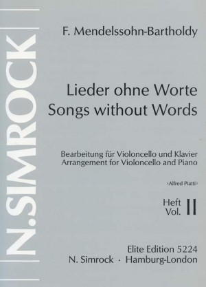 Mendelssohn: Songs without Words op. 38/53 Band 2
