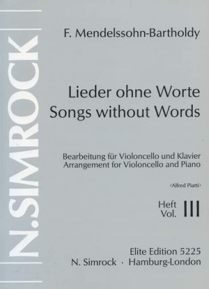 Mendelssohn: Songs without Words op. 62/67 Band 3