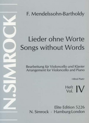 Mendelssohn: Songs without Words op. 85/102 Band 4
