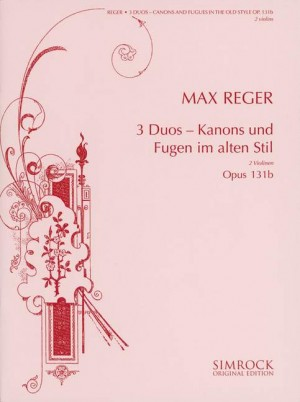 Reger, M: Three Duos op. 131b