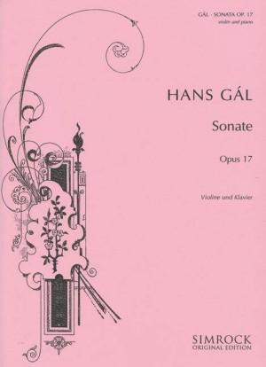 Gál, H: Sonata op. 17