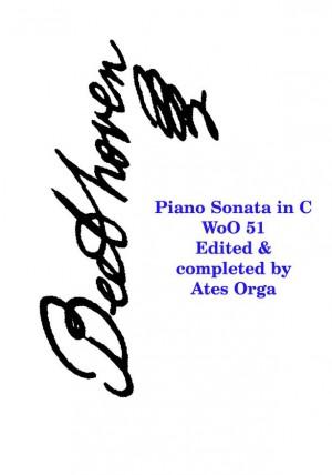 Beethoven: Sonata In C Woo51 (Completed Orga)