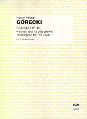 Górecki, H M: Sonata op.10