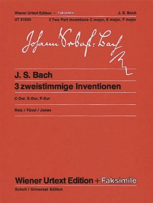 Johann Sebastian Bach: 3 Two Part Inventions BWV 772, 777 &779