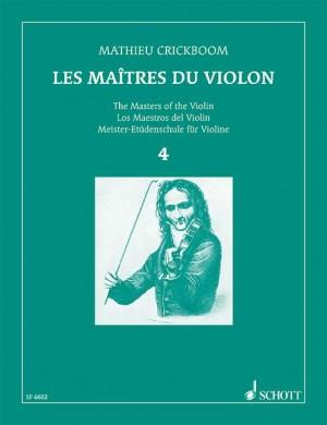 Crickboom, M: The Masters of the Violin Volume IV