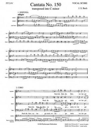 Bach: Cantata No. 150 Nach dir Herr verlanget mich (Vocal Score)