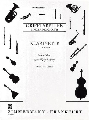 Clarinet Fingering Chart German System  Presto Sheet Music