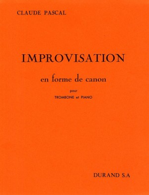 Claude Pascal: Improvisation En Forme De Canon (Trombone and Piano)