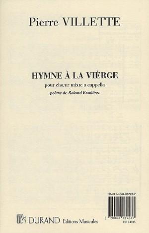 Pierre Villette: Hymne A La Vierge