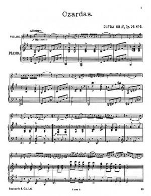 G. Hille: Hille Czardas Op.23/3