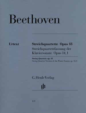 Beethoven, L v: String Quartets and String Quartet-Version of the Piano Sonata op. 18/1-6 und op. 14/1