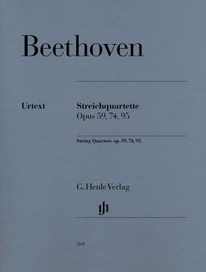 Beethoven, L v: String Quartets op. 59, 74, 95