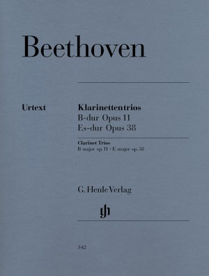 Beethoven, L v: Clarinet Trios B flat major and E flat major for Piano, Clarinet (or Violin) and Violoncello op. 11 und 38