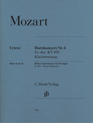 Mozart, W A: Concerto for Horn and Orchestra no. 4 Eb major KV 495 Product Image