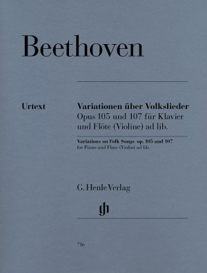 Beethoven, L v: Variations on Folk Songs for Piano and Flute (Violin) ad lib. op. 105 und 107
