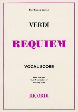 Giuseppe Verdi: Requiem (Ricordi Edition) - Vocal Score