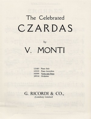 V. Monti: Czardas For Violin And Piano
