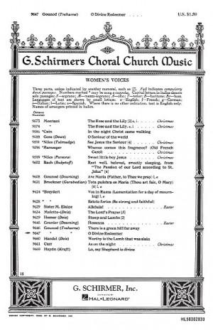 Charles Gounod: O Divine Redeemer (SSA)