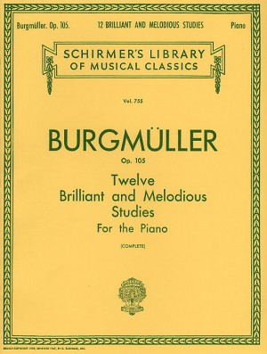 Friedrich Burgmuller: Twelve Brilliant And Melodious Studies Op. 105