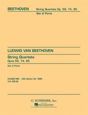 Ludwig van Beethoven: String Quartets Op.59, Op.74 And Op.95
