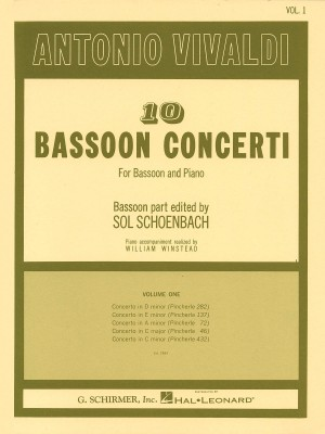 Antonio Vivaldi: 10 Bassoon Concerti For Bassoon And Piano Volume 1