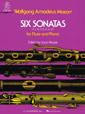 Wolfgang Amadeus Mozart: Six Sonatas For Flute And Piano