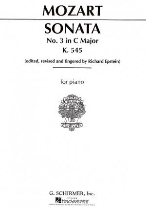 W.A. Mozart: Piano Sonata No.3 In C Major K.545