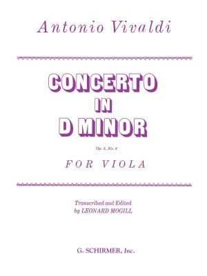 Antonio Vivaldi: Concerto In D Minor for Viola