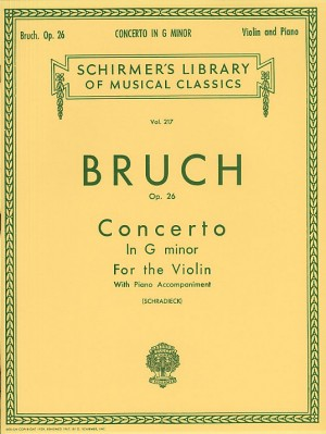 Max Bruch: Violin Concerto No.1 In G Minor Op.26 (Violin/Piano)
