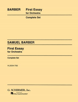 barber first essay for orchestra op page of presto  samuel barber first essay for orchestra