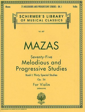 Jacques F. Mazas: 75 Melodious And Progressive Studies Op.36 Book 1