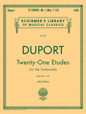 Jean-Louis Duport: 21 Etudes For Solo Cello Book 1 (Nos. 1-13)