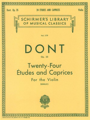 Jakob Dont: 24 Etudes And Caprices For The Violin (Berkley)