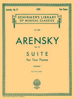 Anton Arensky: Suite for Two Pianos Op.15