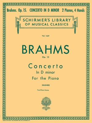 Johannes Brahms: Piano Concerto No.1 In D Minor Op. 15 (2-Piano Score)