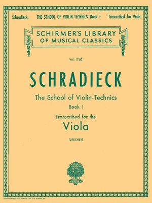 Henry Schradieck: School Of Violin Technics Book One (Viola)