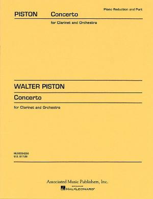 Walter Piston: Clarinet Concerto (Clarinet/Piano)